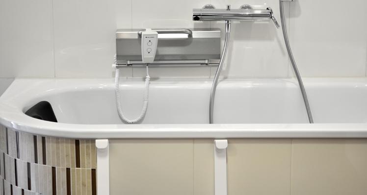 Tub lift - Installation with bath tub